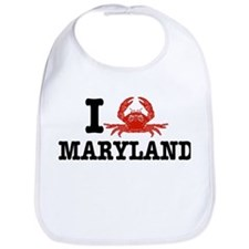 I Love Maryland Bib