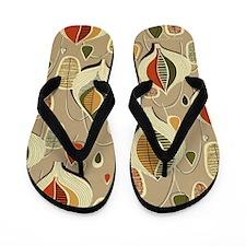 Retro Mid-century Modern Flip Flops