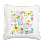 abc 123 Square Canvas Pillow