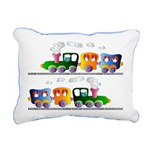 Trains Rectangular Canvas Pillow