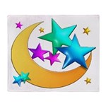 Moons & Stars (white) Blanket