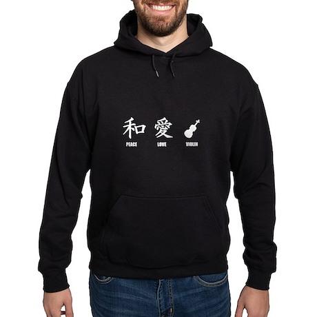 Kanji Peace Love Violin Hoodie