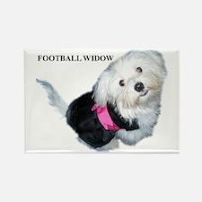 Football widow Rectangle Magnet