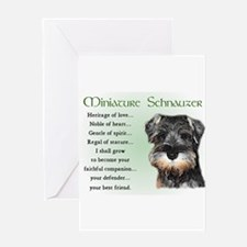 mini schnauzer heritage Greeting Cards