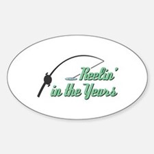 Reelin' in the Years Oval Decal
