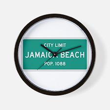 Jamaica Beach, Texas City Limits Wall Clock