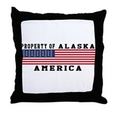 Property of Alaska Throw Pillow