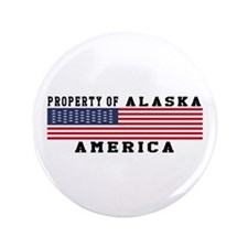 "Property of Alaska 3.5"" Button"
