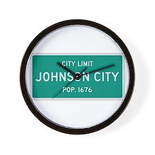 Johnson City, Texas City Limits Wall Clock