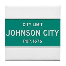 Johnson City, Texas City Limits Tile Coaster