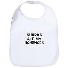 Sharks Ate My Homework Bib
