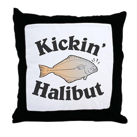 Kickin' Halibut Throw Pillow