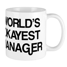 World's Okayest Manager Small Mugs