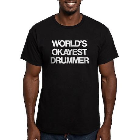 World's Okayest Drummer Men's Fitted T-Shirt (dark