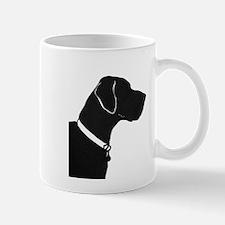 Great Dane with collar and tag Mug