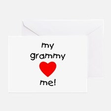 My grammy loves me Greeting Cards (Pk of 10)