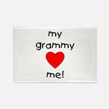 My grammy loves me Rectangle Magnet