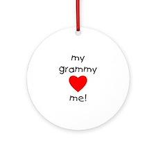 My grammy loves me Ornament (Round)