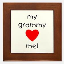 My grammy loves me Framed Tile