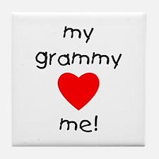 My grammy loves me Tile Coaster