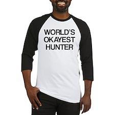 World's Okayest Hunter Baseball Jersey