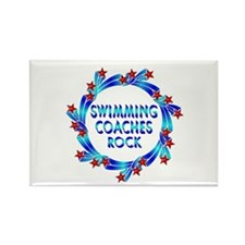 Swimming Coaches Rock Rectangle Magnet