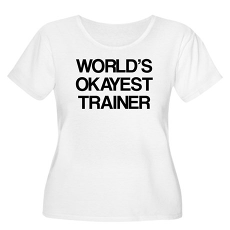 World's Okayest Trainer Women's Plus Size Scoop Ne