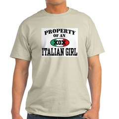 Property of an Italian Girl Ash Grey T-Shirt