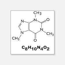 Caffeine Molecule Rectangle Sticker