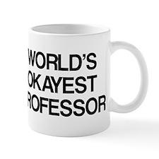 World's Okayest Professor Small Mugs
