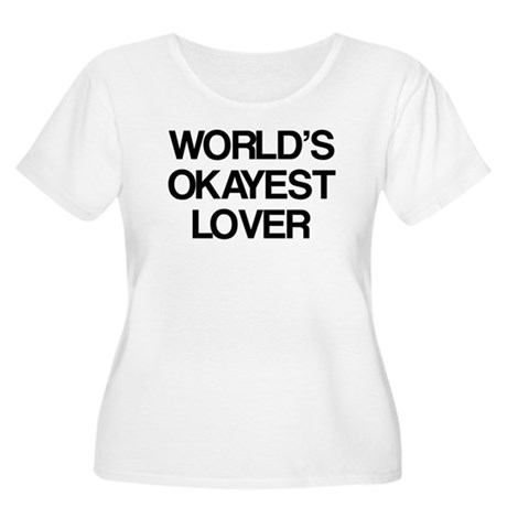 World's Okayest Lover Women's Plus Size Scoop Neck