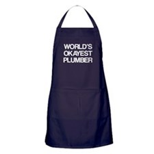 World's Okayest Plumber Apron (dark)