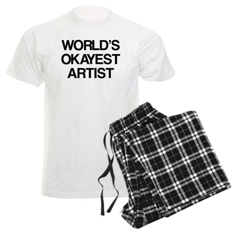World's Okayest Artist Men's Light Pajamas