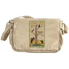 animal tree Messenger Bag