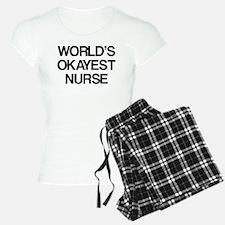 World's Okayest Nurse pajamas