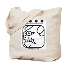 WHITE Solar DOG Tote Bag