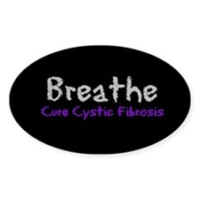 Breathe (Cure CF) Oval Decal