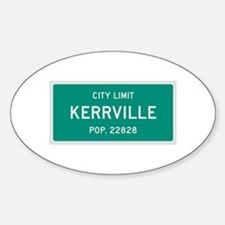 Kerrville, Texas City Limits Decal