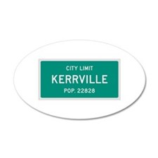 Kerrville, Texas City Limits Wall Decal