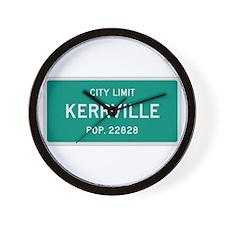 Kerrville, Texas City Limits Wall Clock