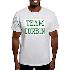 TEAM CORBIN  Ash Grey T-Shirt