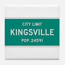 Kingsville, Texas City Limits Tile Coaster