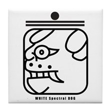 WHITE Spectral DOG Tile Coaster