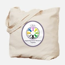 Supporting Cancer Research Together Tote Bag