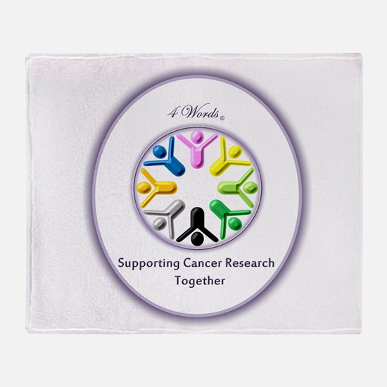 Supporting Cancer Research Together Throw Blanket