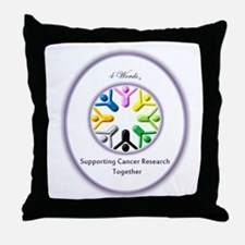 Supporting Cancer Research Together Throw Pillow