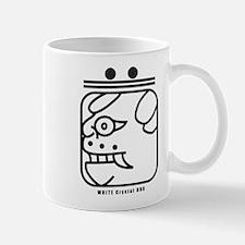 WHITE Crystal DOG Mug