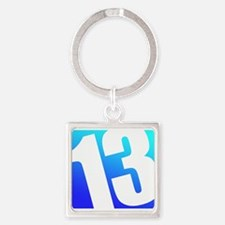 Number 13 Square Keychain