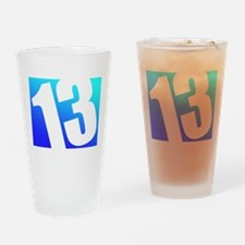 Number 13 Drinking Glass