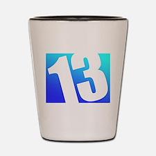 Number 13 Shot Glass